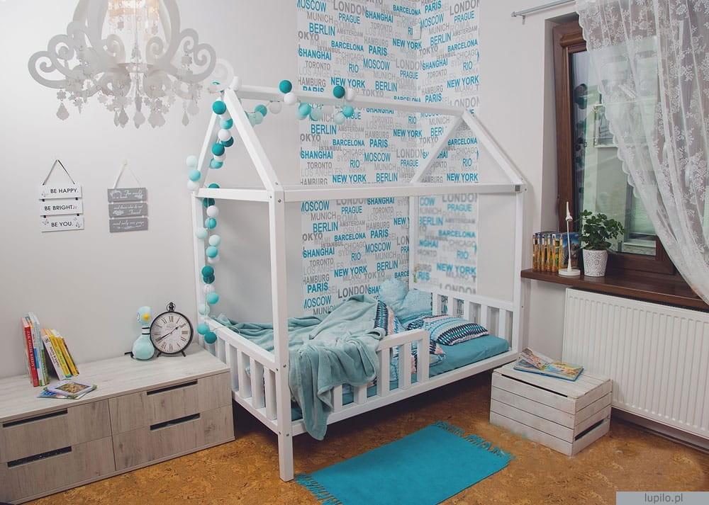 łóżko Dziecięce Domek Drewniany 160x80 Cm