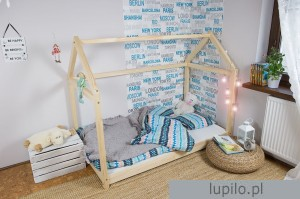 Bed Wooden House Clasic 140x70 cm